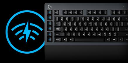 G910 keyboards section close up of custom color key illumination