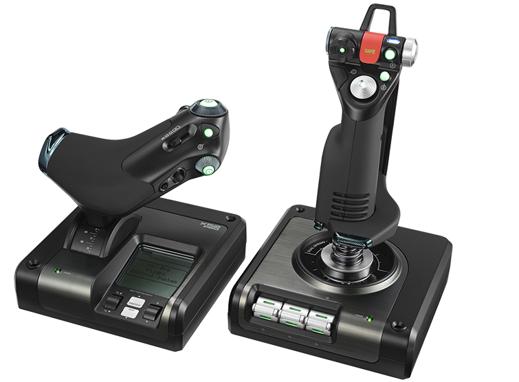 X52 Professional H.O.T.A.S. | Part-Metal Throttle and Stick Simulation Controller