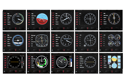 Logitech G Flight Simulator Aircraft Instrument Panel