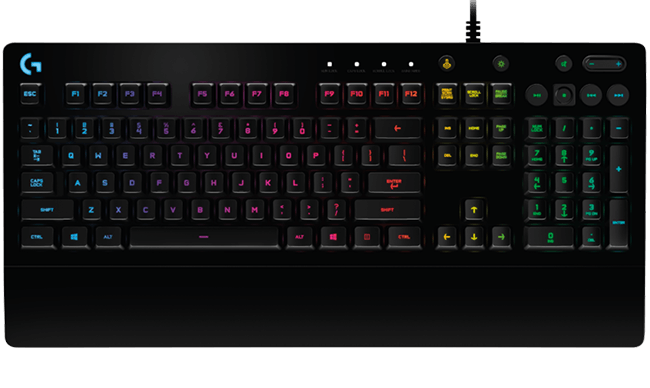 7cee4ff69a7 Logitech G213 Prodigy Gaming Keyboard with RGB Lighting & Anti-Ghosting
